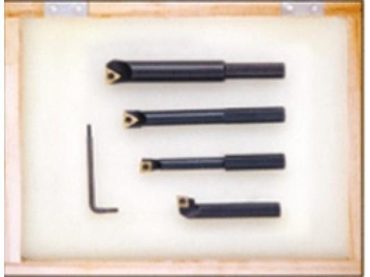 Váltólapkás esztergakés készlet leszúráshoz, külső - és belső esztergáláshoz